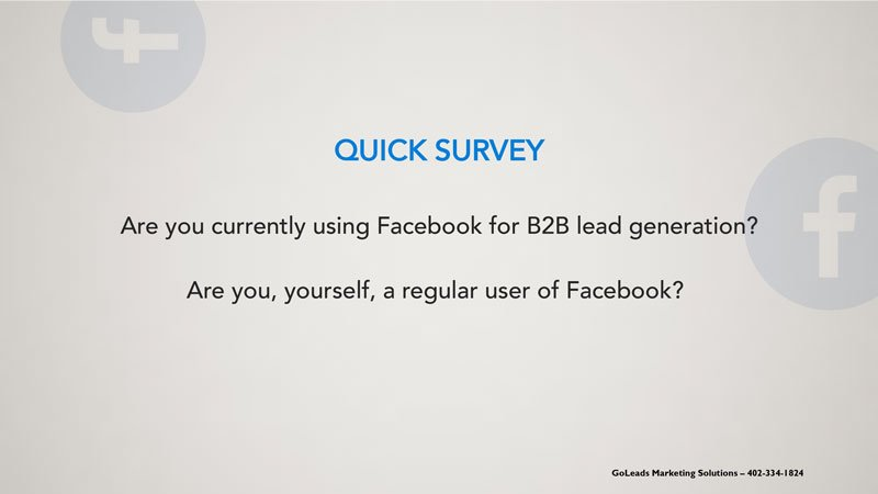 Facebook Lead Ads for B2B Lead Generation: How do you generate leads on Facebook