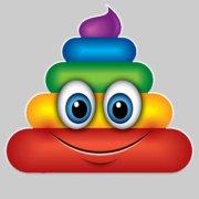 Rainbow Poo Emoji